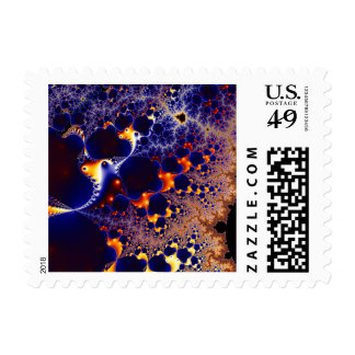 Fractal magma postage