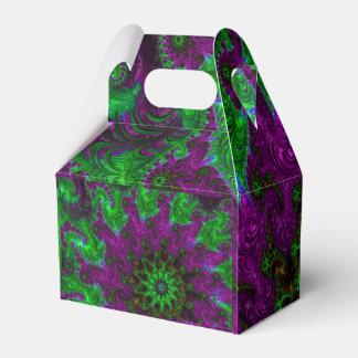 Fractal magnífico de la púrpura y de la cal cajas para regalos de boda