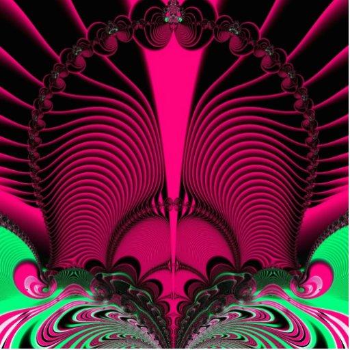 Fractal magnífico de las reflexiones de la salida  fotoescultura vertical