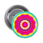 Fractal Mandala - 14 Pinback Button
