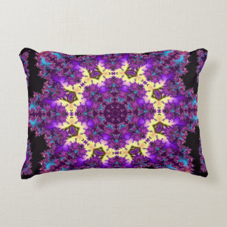 Fractal Mandala Accent Pillow