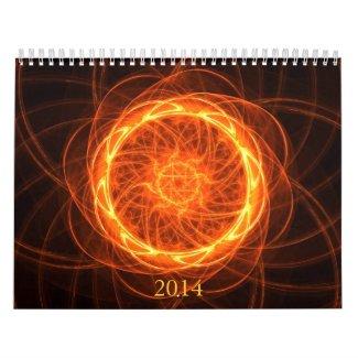Fractal mandala artwork calendar
