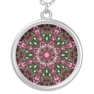 Fractal mandala / Fraktalt mandala Round Pendant Necklace