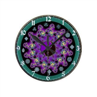 Fractal Mandala Symbolic Wall Clock