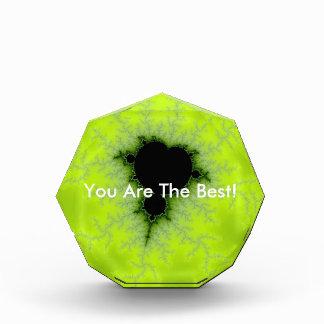 Fractal Mandelbrot Green Acrylic Award