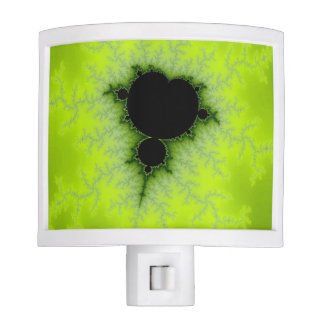 Fractal Mandelbrot Green Night Light