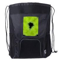 Fractal Mandelbrot Green Drawstring Backpack
