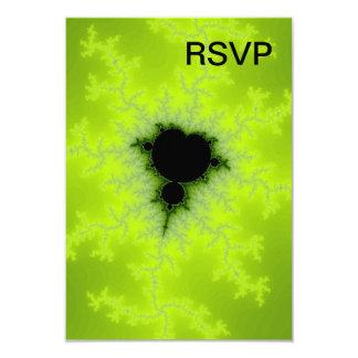 Fractal Mandelbrot Green Invite