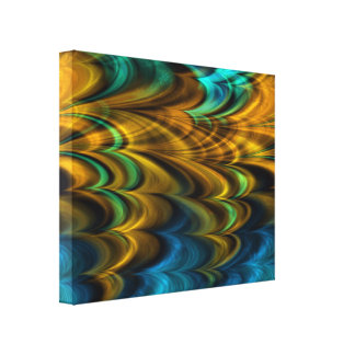 Fractal Marble 4-4 Wrapped Canvas Stretched Canvas Print