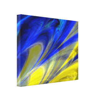 Fractal Marble 4-6 Wrapped Canvas Stretched Canvas Prints