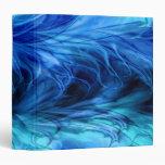 Fractal Marble Blue Binder