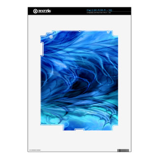 Fractal Marble Blue Decal For The iPad 2