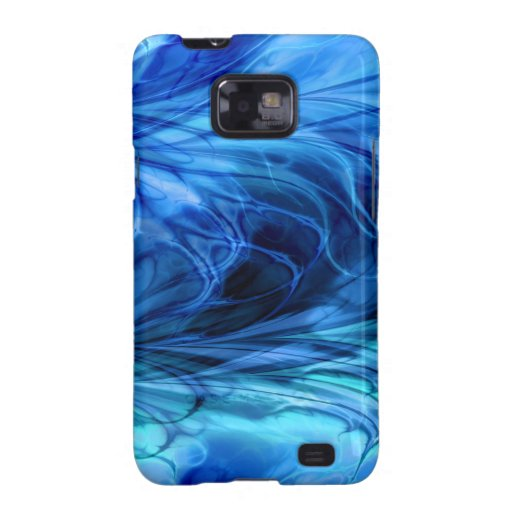 Fractal Marble Blue Galaxy S2 Cases