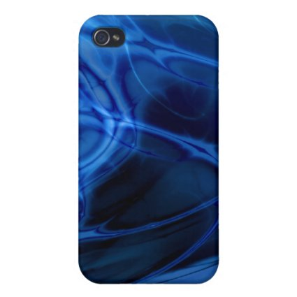Fractal Marble Blue iPhone 4/4S Cases