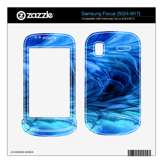 Fractal Marble Blue Decal For Samsung Focus