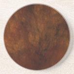 Fractal Marble Grunge Series-11---Brn coaster-1 of