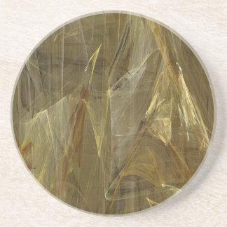 Fractal Marble Grunge Series-13--Gold Coaster 1 of