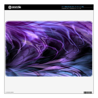 Fractal Marble Purple Decal For MacBook