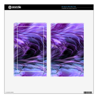 Fractal Marble Purple Decals For Kindle Fire
