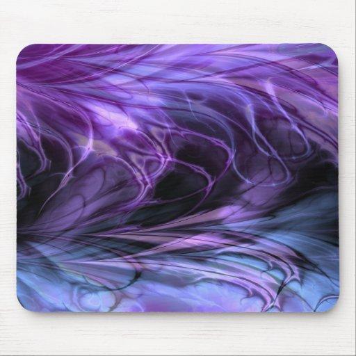 Fractal Marble  Purple Mousepad Mousepad