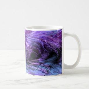 Fractal Marble Purple Mug