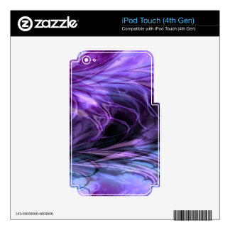 Fractal Marble Purple Skins For iPod Touch 4G