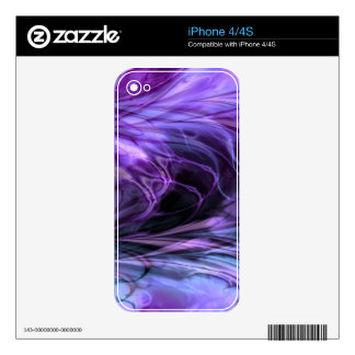 Fractal Marble Purple Skins For The iPhone 4