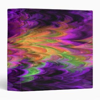 Fractal Marble Rainbow Binder