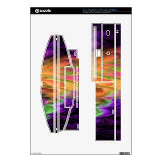 Fractal Marble Rainbow PS3 Console Skins