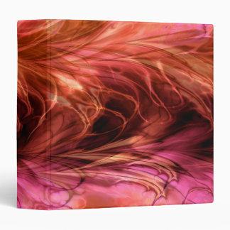 Fractal Marble Red Binder