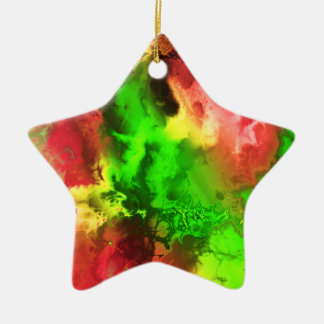 Fractal Marble Star 2-4 Christmas Tree Ornament