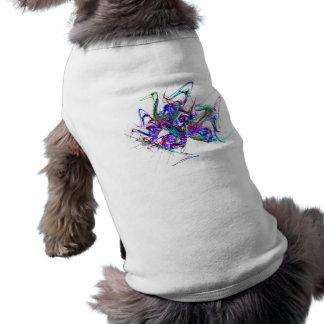 Fractal - Mardi Gras Mask Pet T Shirt