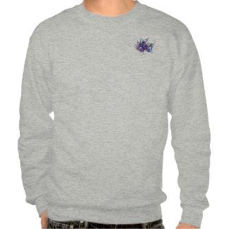 Fractal - Mardi Gras Mask Pull Over Sweatshirts