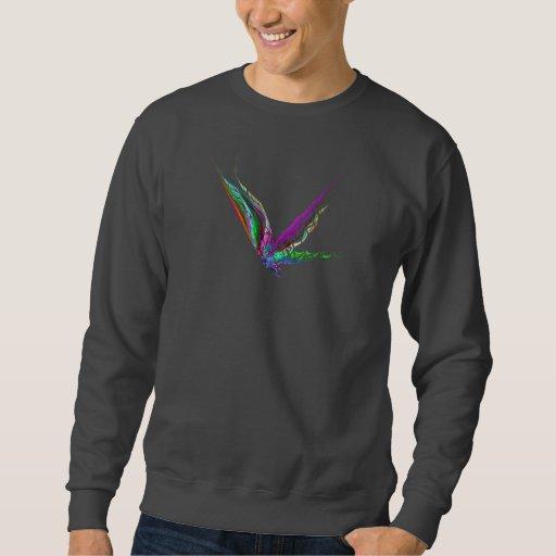 Fractal - mariposa en vuelo sudadera con capucha