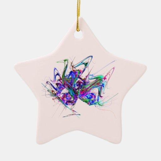 Fractal - máscara del carnaval adorno de cerámica en forma de estrella