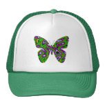 Fractal Maze Yellow Green Magenta Butterfly Trucker Hat