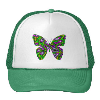 Fractal Maze Yellow Green Magenta Butterfly Trucker Hat