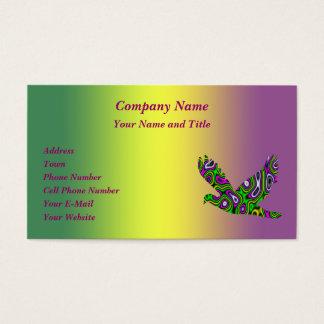 Fractal Maze Yellow Green Magenta Dove Business Card