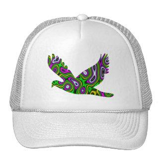 Fractal Maze Yellow Green Magenta Dove Trucker Hat