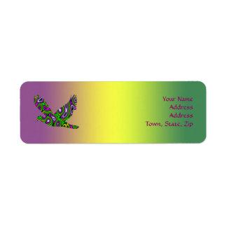 Fractal Maze Yellow Green Magenta Dove Label