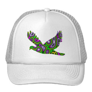Fractal Maze Yellow Green Magenta Dove Trucker Hat