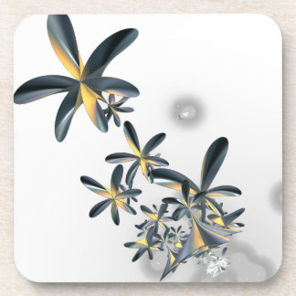 Fractal Metallic Flowers Coaster