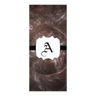 """Fractal mezclado del rastro invitación 4"""" x 9.25"""""""