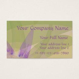 "Fractal ""Morning Blossom"" Business Card Normal"
