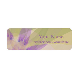 """Fractal """"Morning Blossom"""" Labels"""