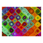 Fractal Mosaic Abstract Art Posters