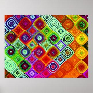 Fractal Mosaic Abstract Art Posters