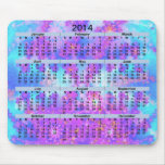 Fractal Mousepad de la acuarela de 2014 calendario Tapete De Ratón