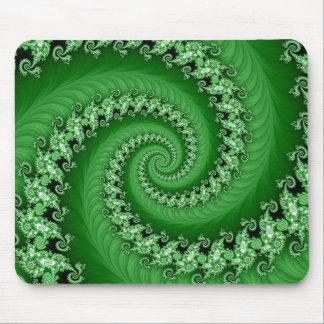 Fractal Mousepad espiral doble verde Alfombrillas De Ratón