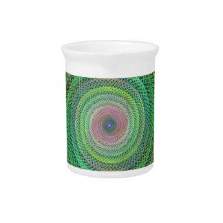 Fractal multicolor jarra de beber